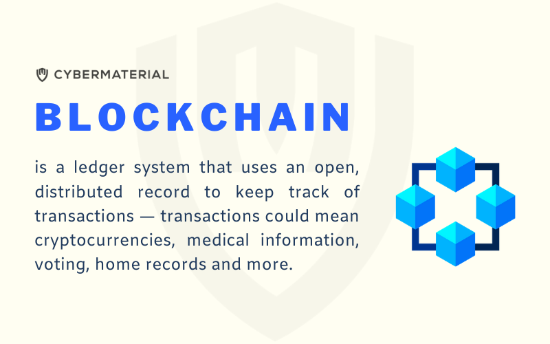 is a ledger system that uses an open, distributed record to keep track of transactions — transactions could mean cryptocurrencies, medical information, voting, home records and more.